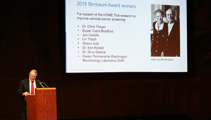 Dr. Eric B. Larson delivers the 2019 Birnbaum Lecture