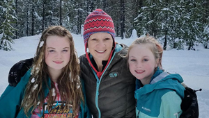 Diana Buist and family in the snow