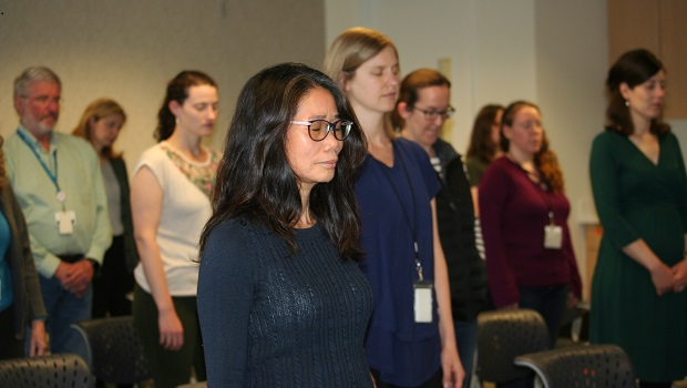 KPWHRI staff attend mindfulness class